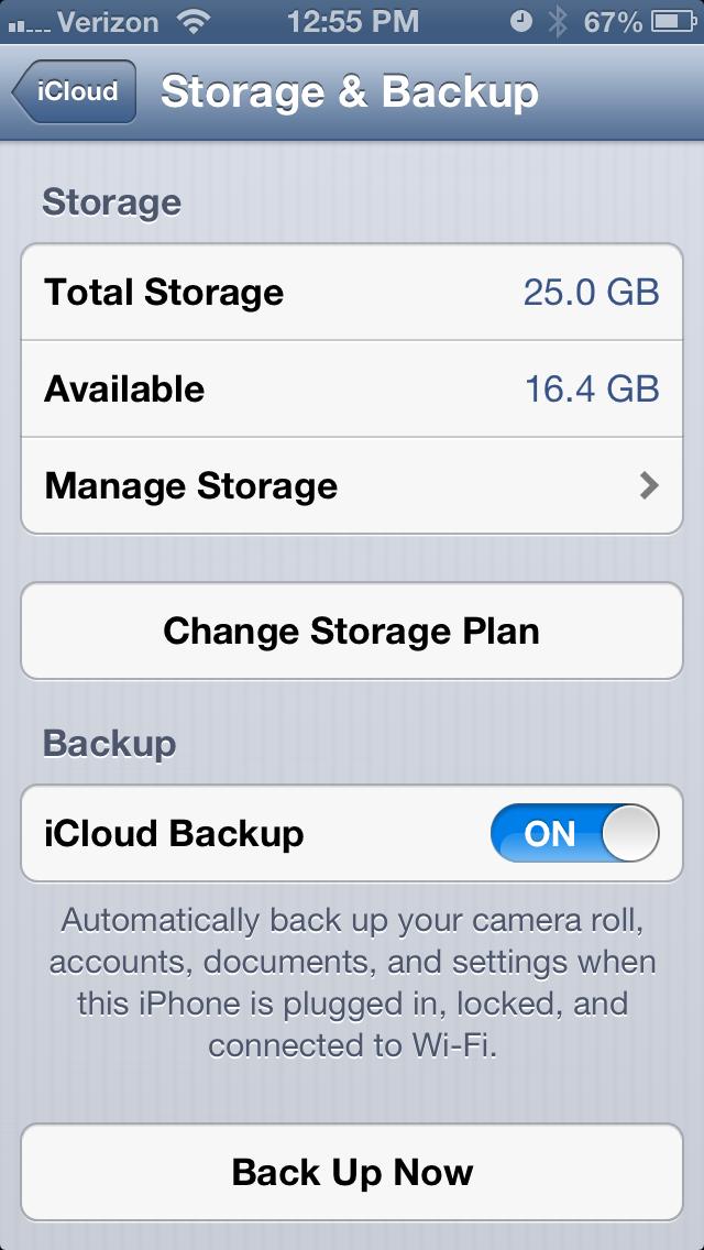 iphone back upsettings screenshot
